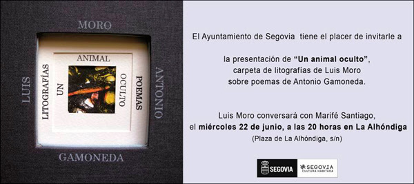 Presentación Carpeta litográfica Luis Moro-Gamoneda